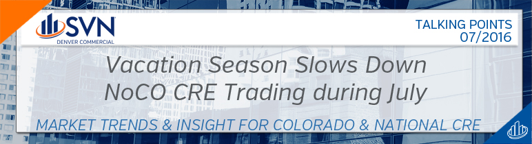 Vacation Season Slows Down NoCOCRE Trading during July