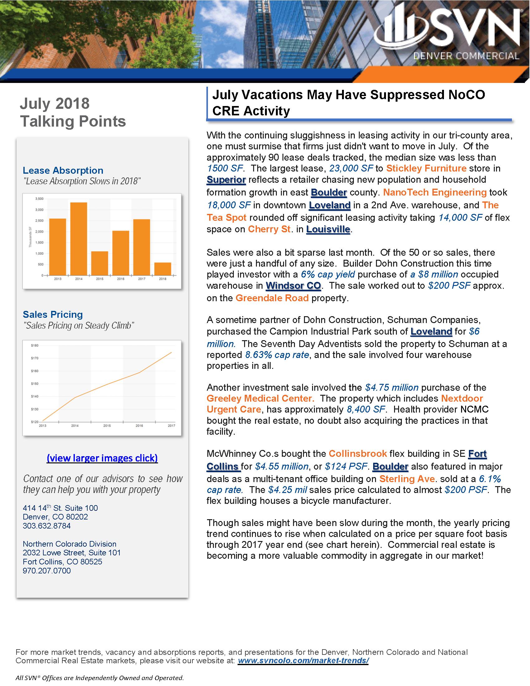 July Talking Points